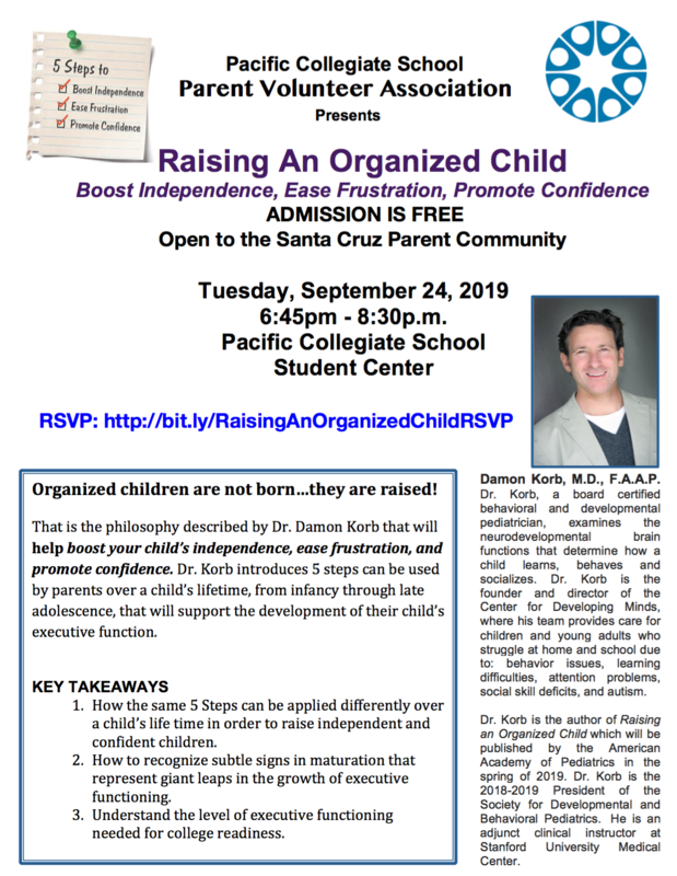 Parent Education Night- Raising an Organized Child-Tuesday, September 24th 6:45 PM to 8:30 PM Thumbnail Image