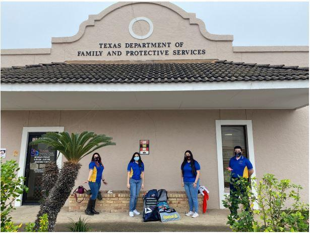 Valley View High School Student Council Members donate needed supplies to the McAllen Rainbow Room, a part of Texas Family and Protective Services. Thumbnail Image