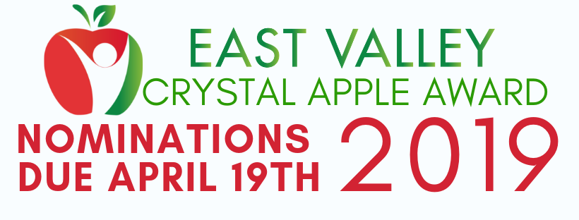 Crystal Apple nominations due April 19th.