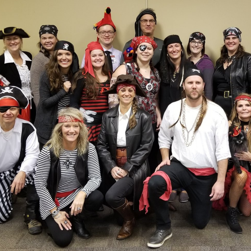DHHS staff dressed as pirates