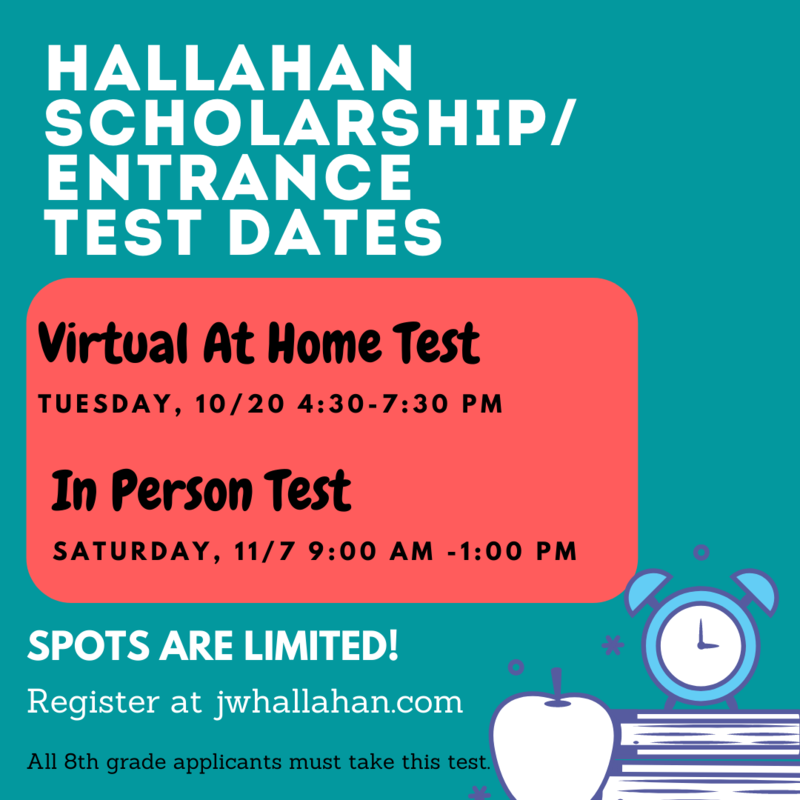 Hallahan Scholarship/Entrance Test Dates Announced Featured Photo
