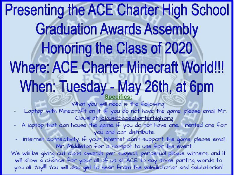 ACE Minecraft Graduation Awards Assembly- May 26th Featured Photo