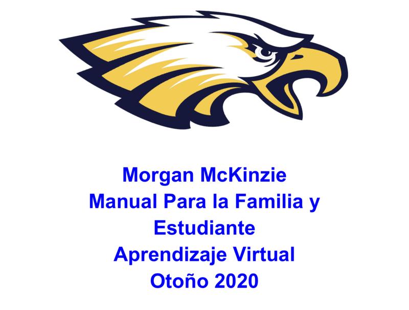 Manual Para la Familia y Estudiante - Aprendizaje Virtual Otoño 2020 Thumbnail Image