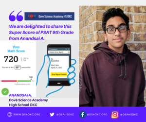 We are delighted to share this Super Score of PSAT 9th Grade from Anandsai A. (1).png