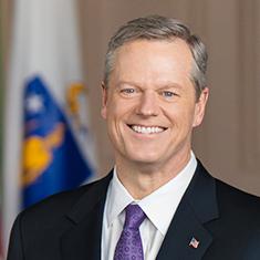 A formal head shot of Governor Baker