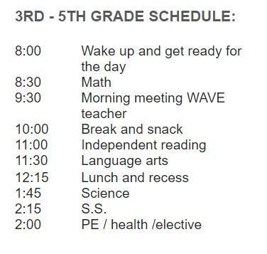 3-5 Schedule