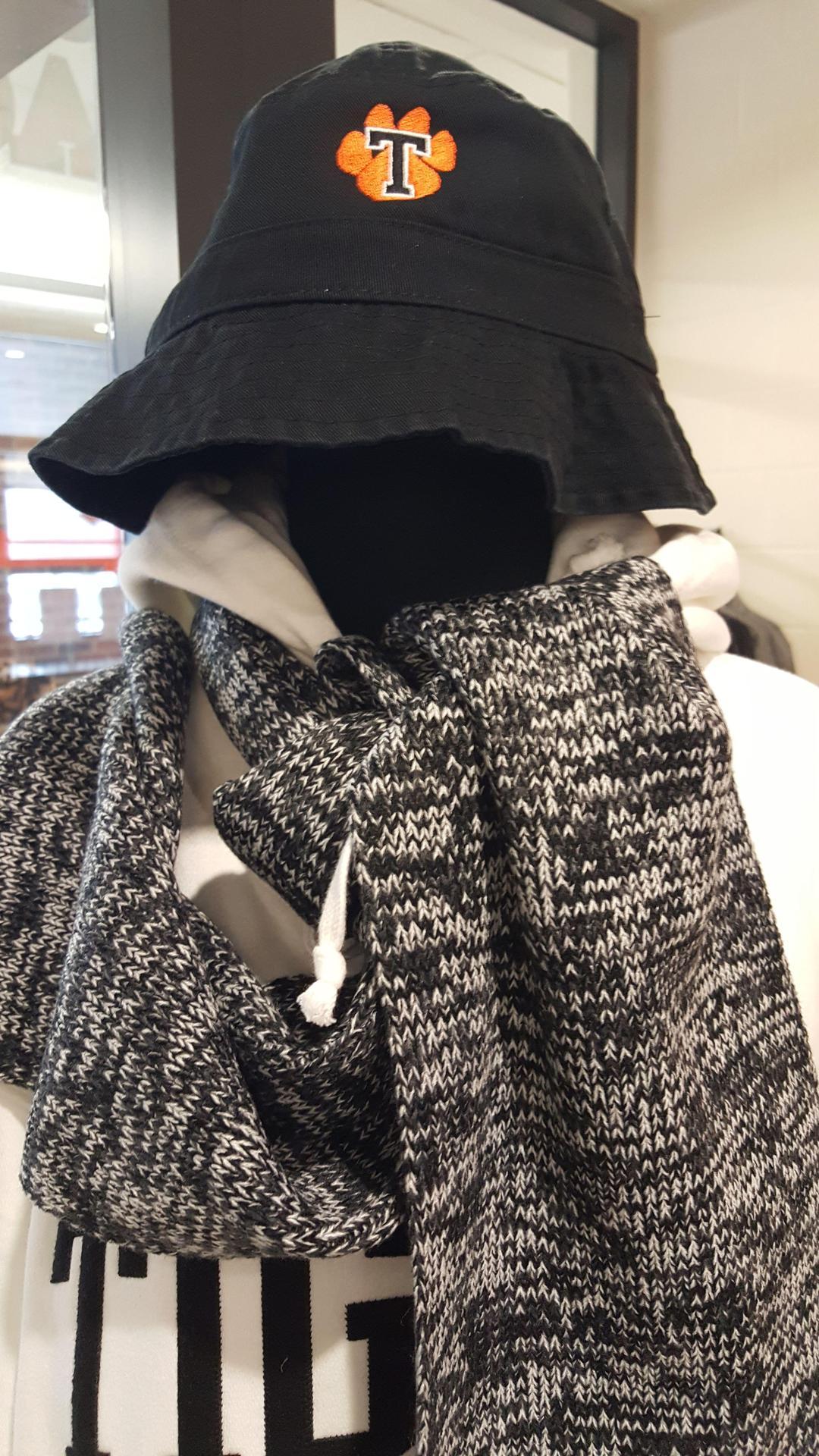$25.00   Black Twill Bucket Hat  Black w/ Orange Paw  White w/ Orange Paw  SM/MED  Large/XL