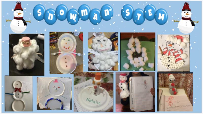 Snowmen STEM collage