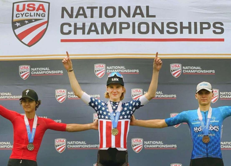 SWCeS Student Colby Simmons receives national bike racer award