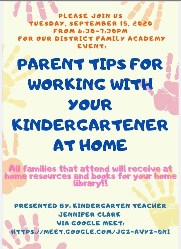 Kindergarten Family Academy Virtual Session