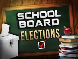 school board elections sign
