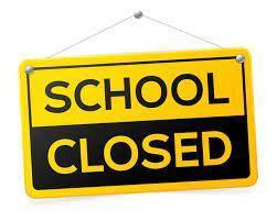 schools closed sign image
