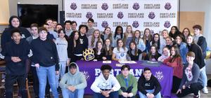 Madi and friends who attended her signing