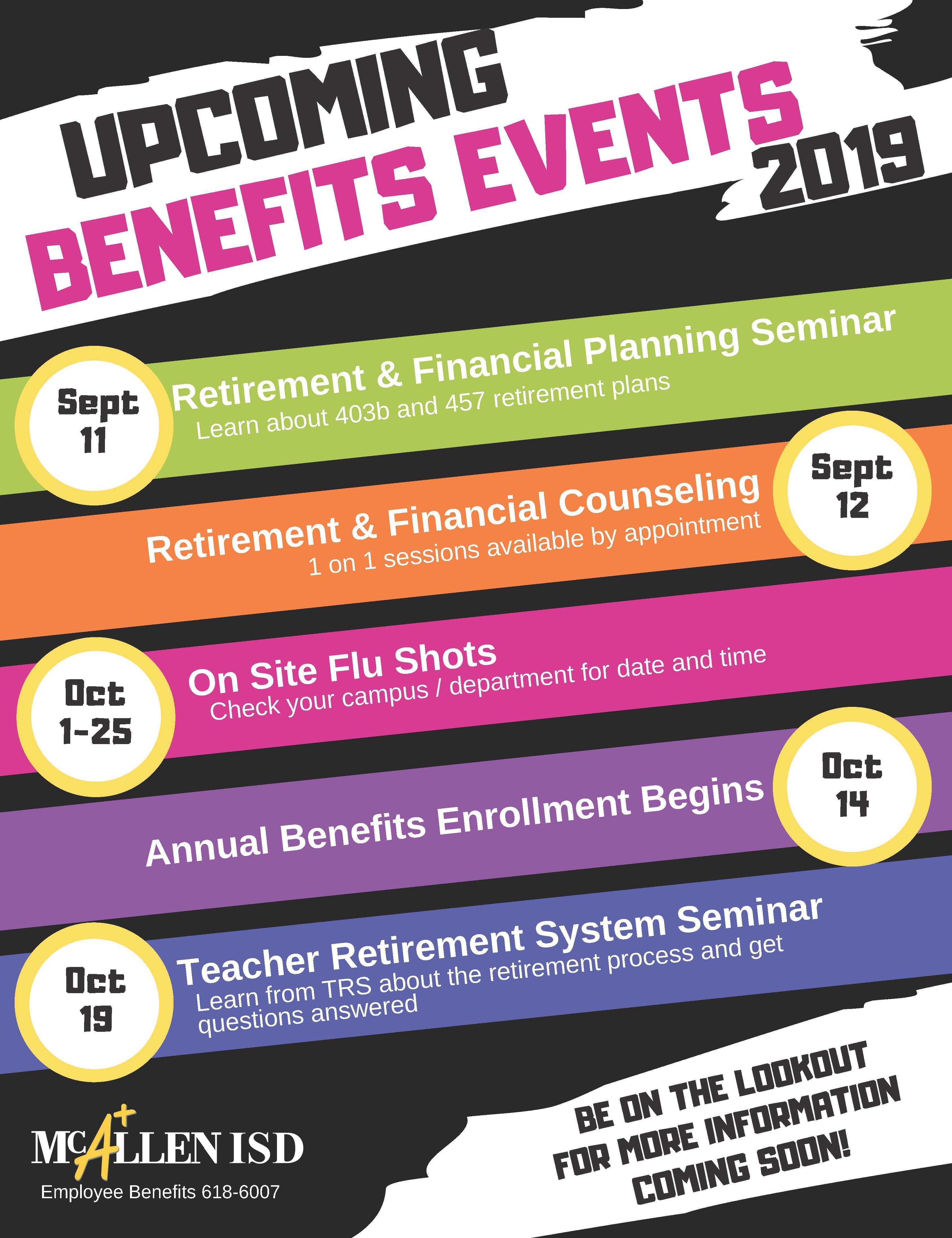 Upcoming Benefits