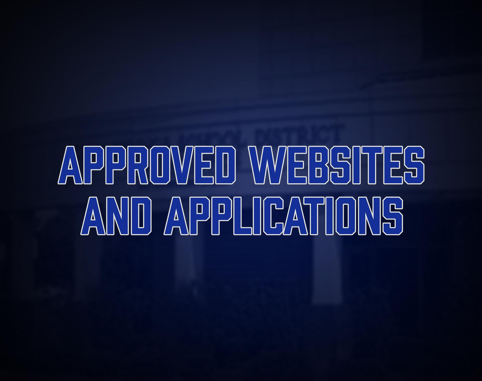 Approved websites and apps