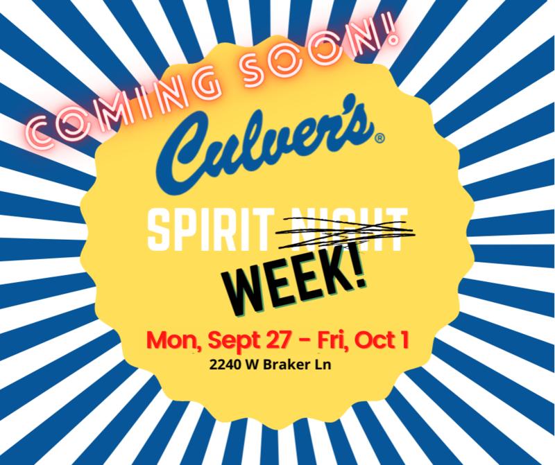 Culver's Spirit Week Featured Photo