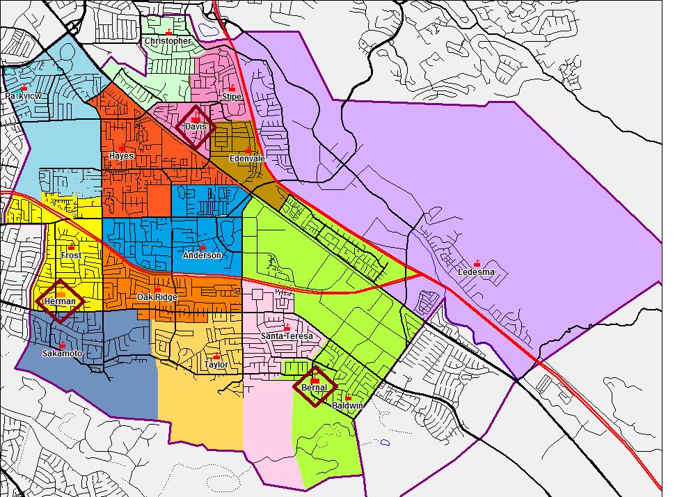 School Boundary Map