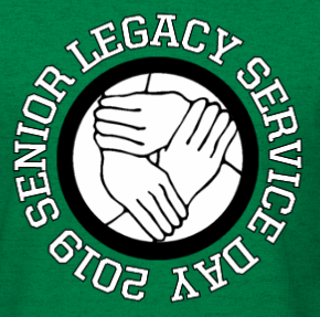 Senior Legacy 2019 with hands in center holding