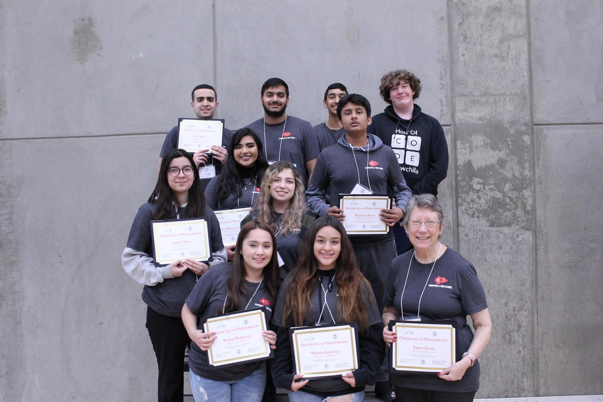 2020 CUHS Academic Decathlon Team