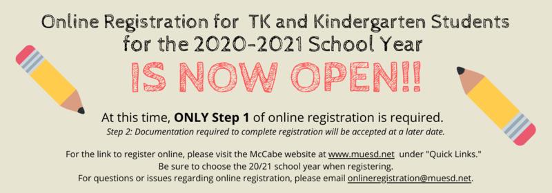 Parent Email re: TK/Kinder Registration NOW OPEN! Thumbnail Image
