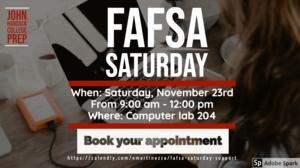 FAFSA Saturday on November 23, 2019