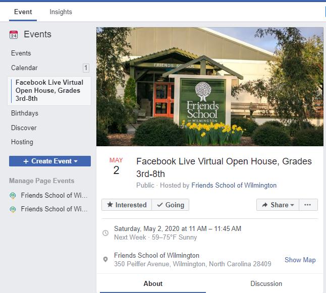 3rd-8th Grade Virtual Open House