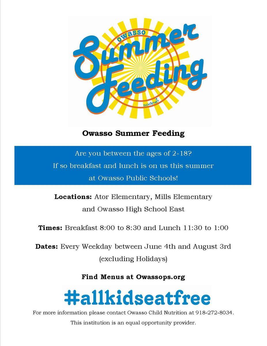 Summer Feeding Flyer