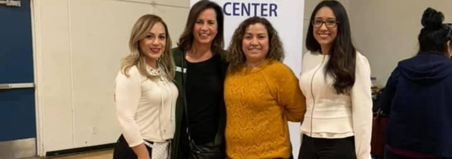 HUSD District liaison, Assistant Superintendent, Administrative Secretary and Parent Engagement Specialist pose for a picture during the Family Festival 2020