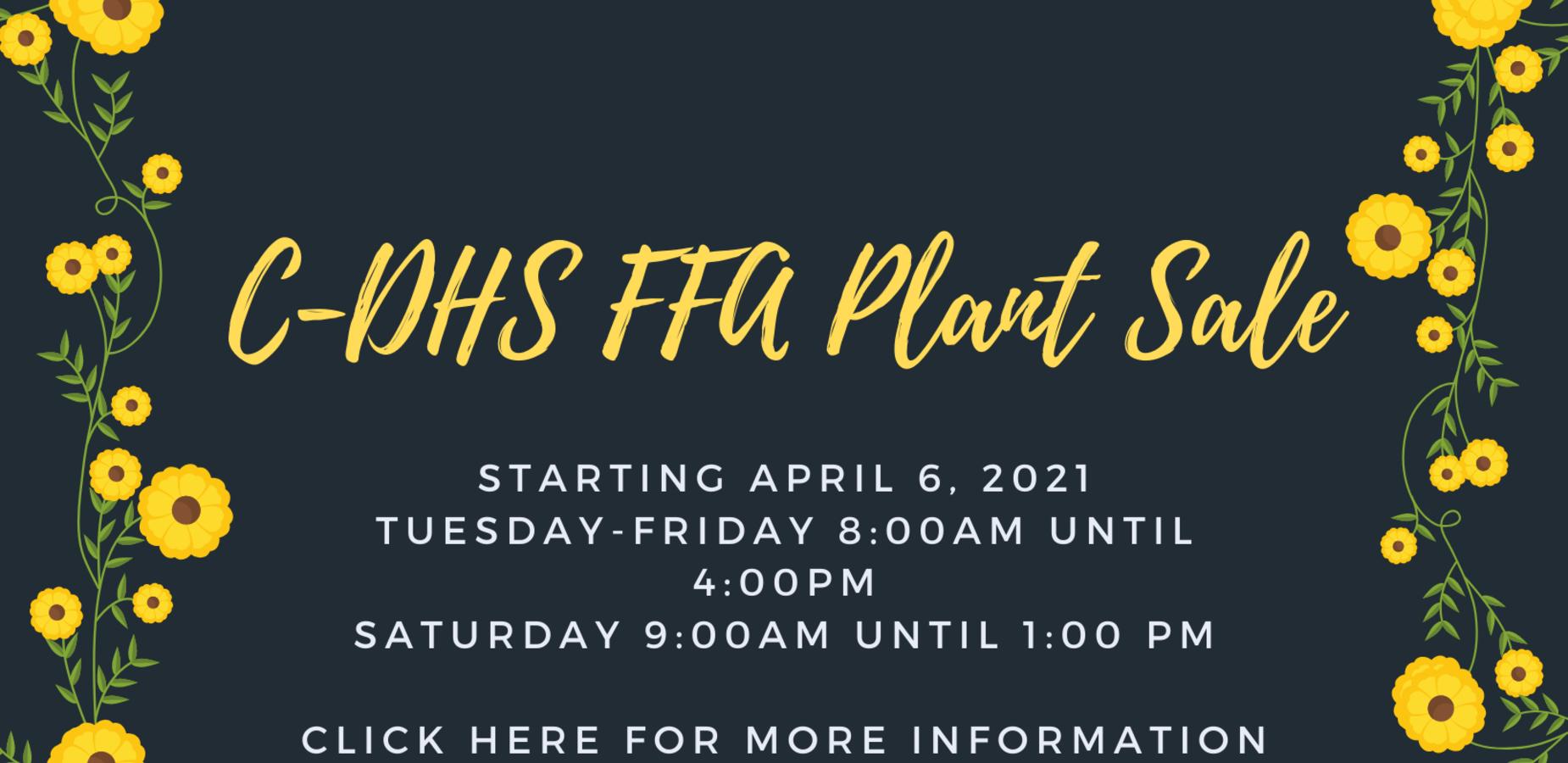 C-DHS FFA Plant Sale begins April 6, 2021