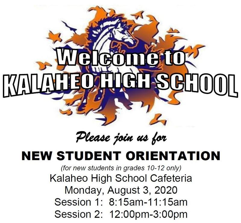 New Student Orientation (gr. 10-12)--August 3 Featured Photo