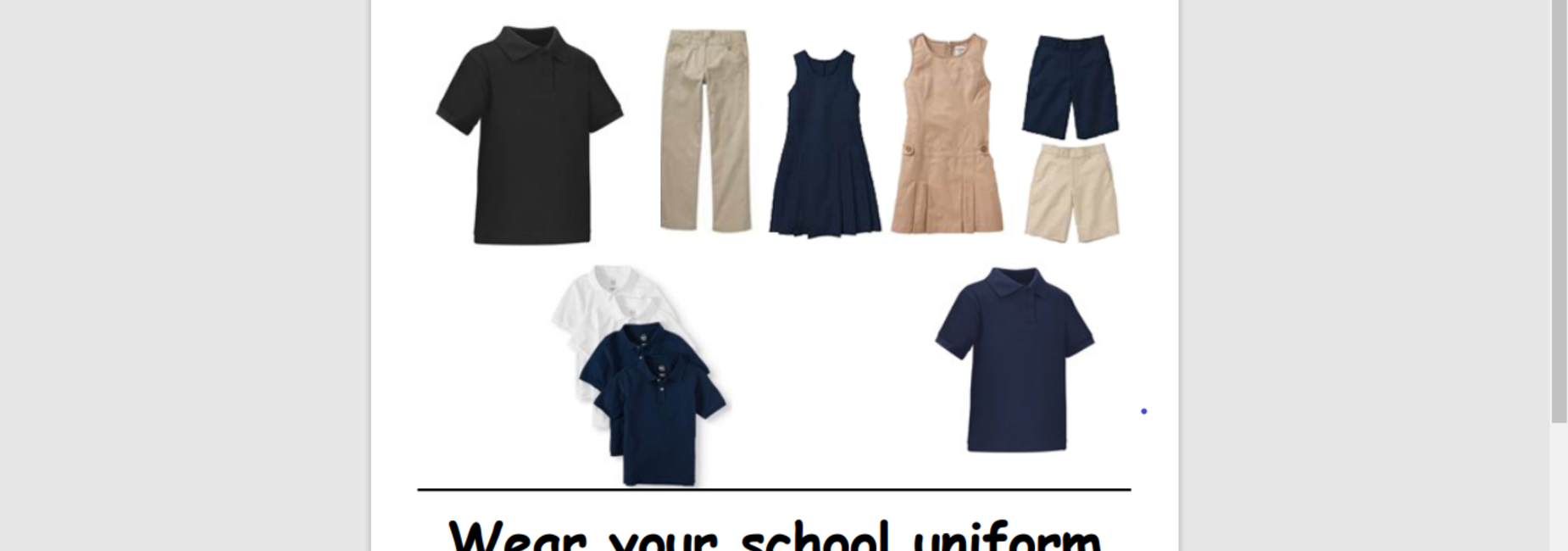 This is a picture of the DSJ school uniform.  Make sure you have your facemask daily with the uniform