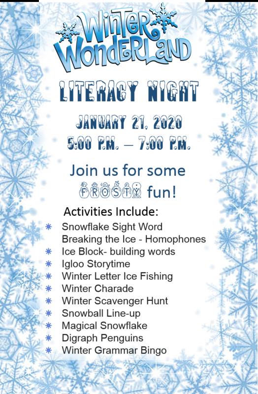 Winter Wonderland Literacy Night - January 21, 2020 Thumbnail Image
