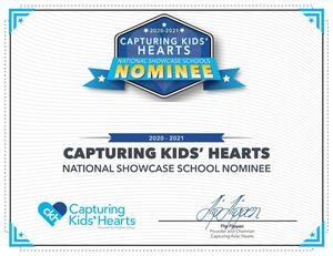 Capturing Kids Hearts certificate