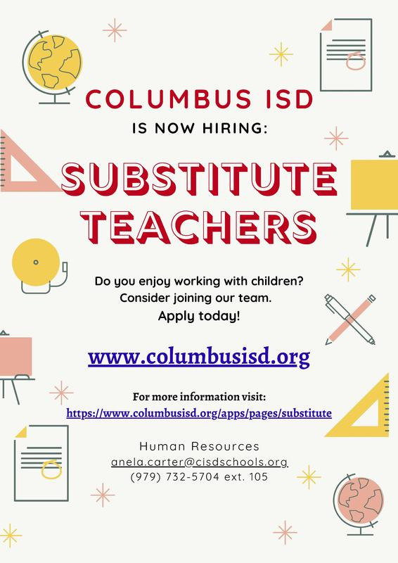 Substitute Teacher Flyer 2021