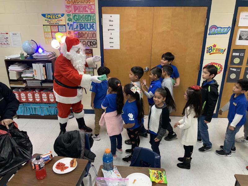 Santa came to North and gave students gifts Thumbnail Image