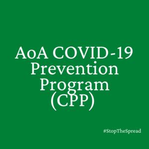 AoA COVID-19  Prevention Program (CPP)