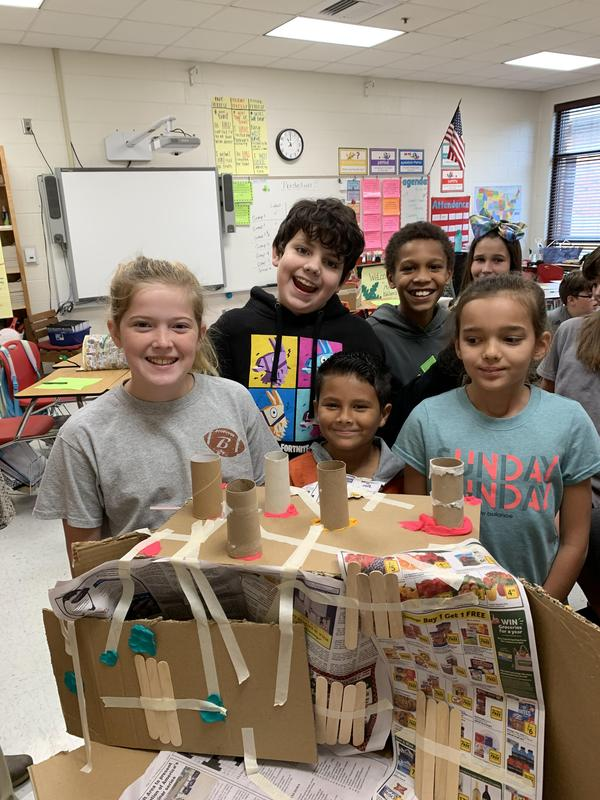 Mrs. Kallam's Students Build Shelters for STEM Activity Featured Photo