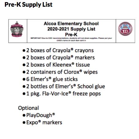 Pre-K 2020-21 Supply Liar