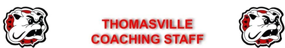 Thomasville Coaching Staff