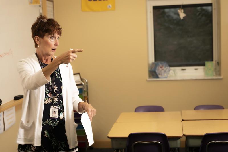 OLSH English teacher Mrs. Maureen Steuernagel