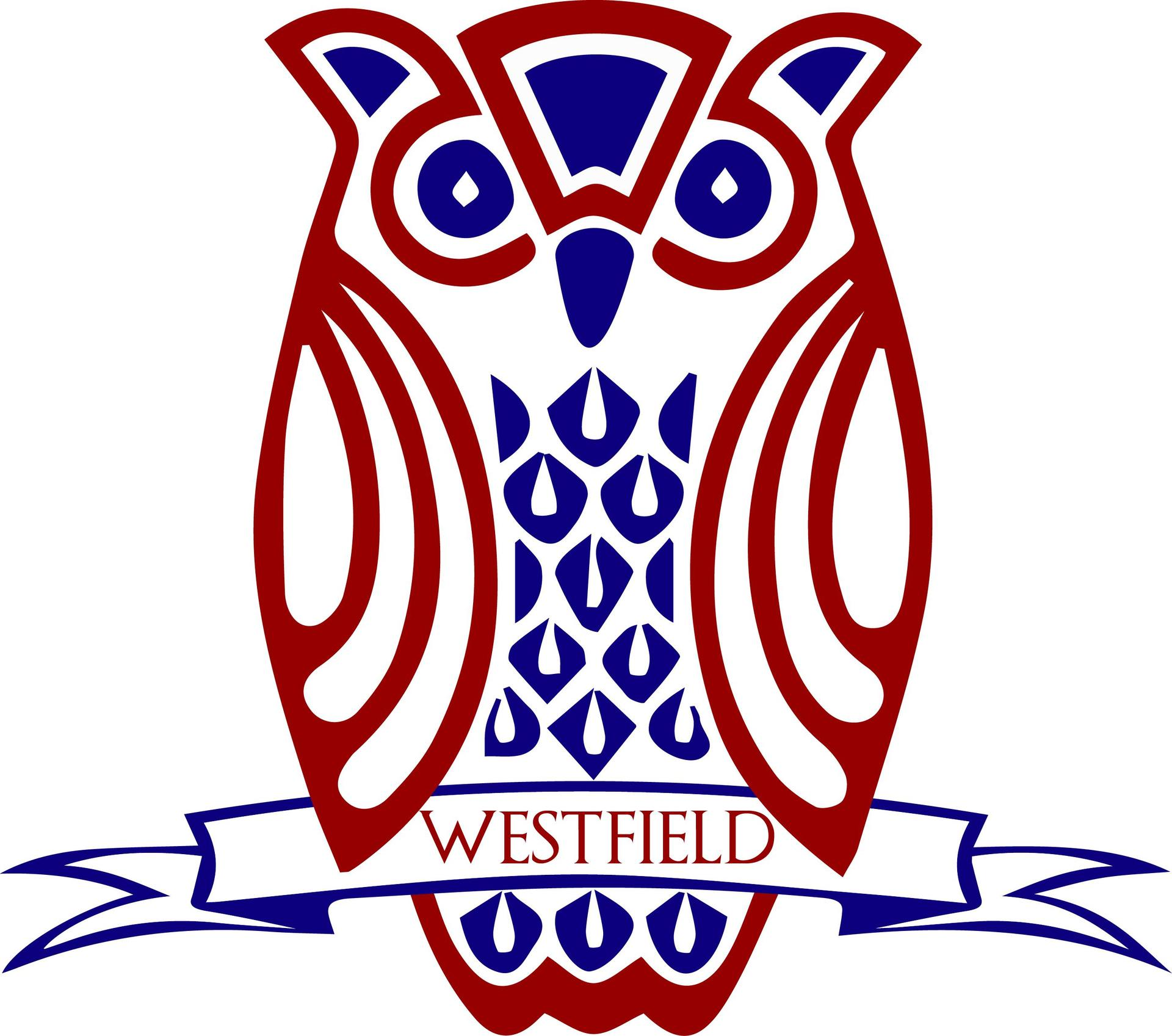 Garnet and Blue Owl Logo for Westfield Friends School
