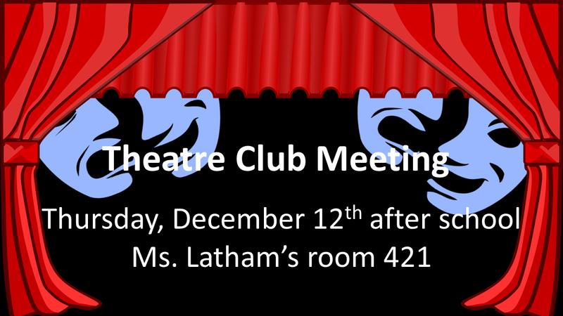 Theatre Club Meeting