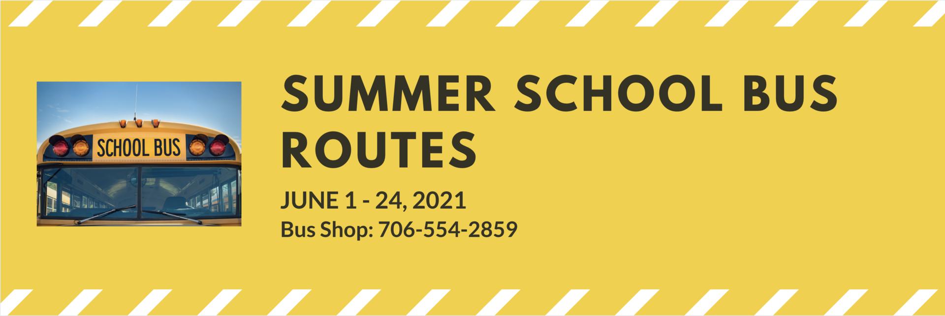 summer school bus routes