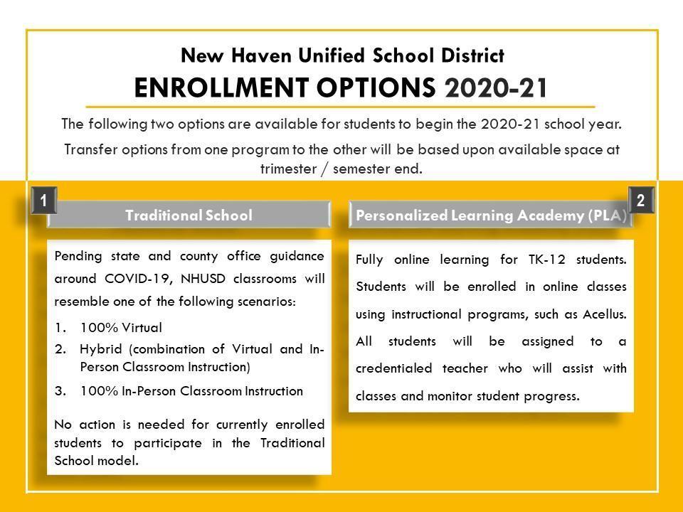 Enrollment Options 2020-21 English