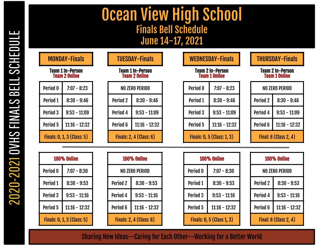 Finals Schedule Image