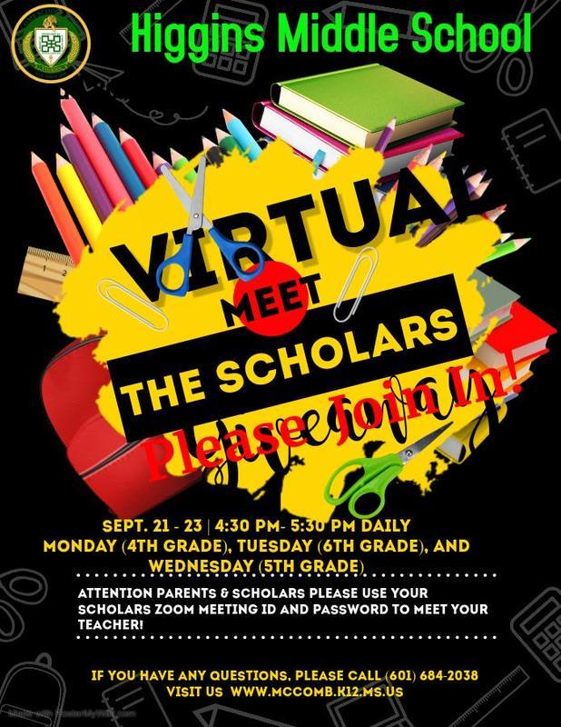 Higgins Middle School Virtual Meet The Teacher 2020