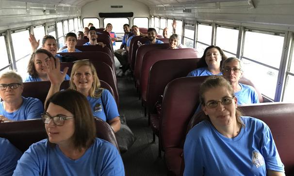 Bus ride to the St. Landry Parish convocation