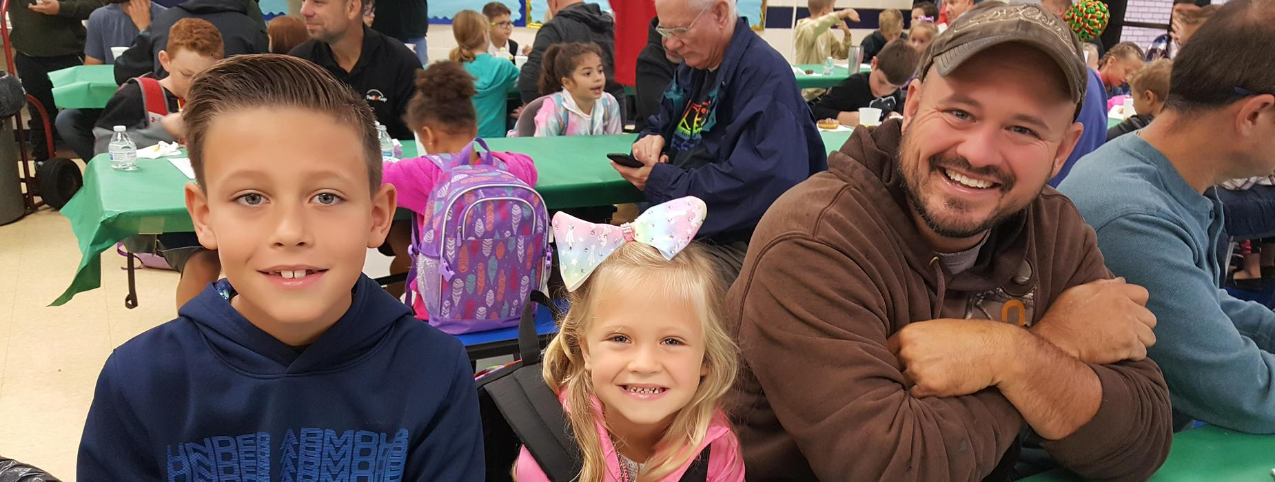 Heritage Elementary hosts Donuts with Dads