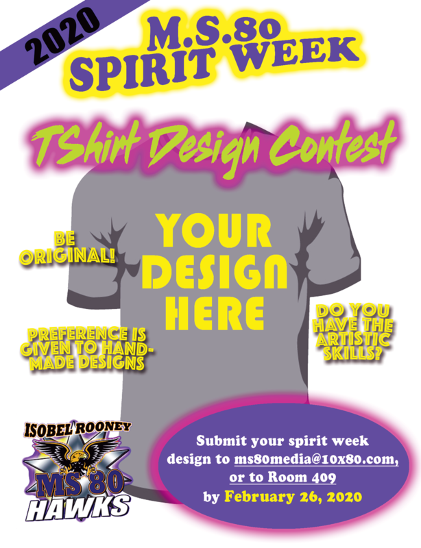 Spirit Week T-shirt Design competition.
