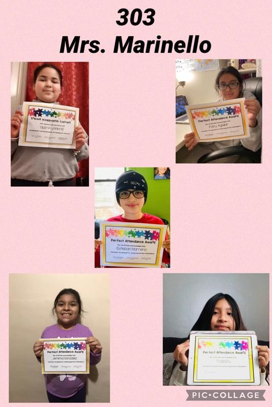 Room 303 Perfect Attendance collage
